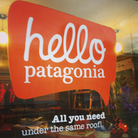hello patagonia tomas rogers office sign