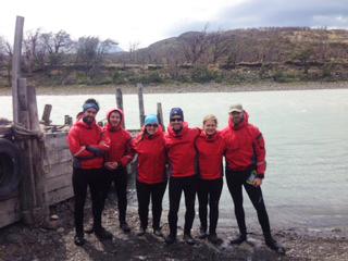 kayak trip grey river and lake, Hello Patagonia guests testominial. Torres del Paine