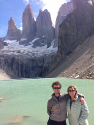base of the paine towers, Hello Patagonia guests testominial. Torres del Paine