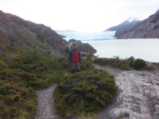 Grey Glacier lookout, Hello Patagonia guests testominial. Torres del Paine