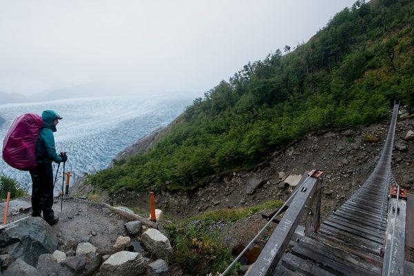 grey hanging bridges, O Circuit trip, Torres del Paine, Hello patagonia guests trip