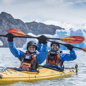 grey lake kayaking