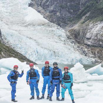 walking on an iceberg